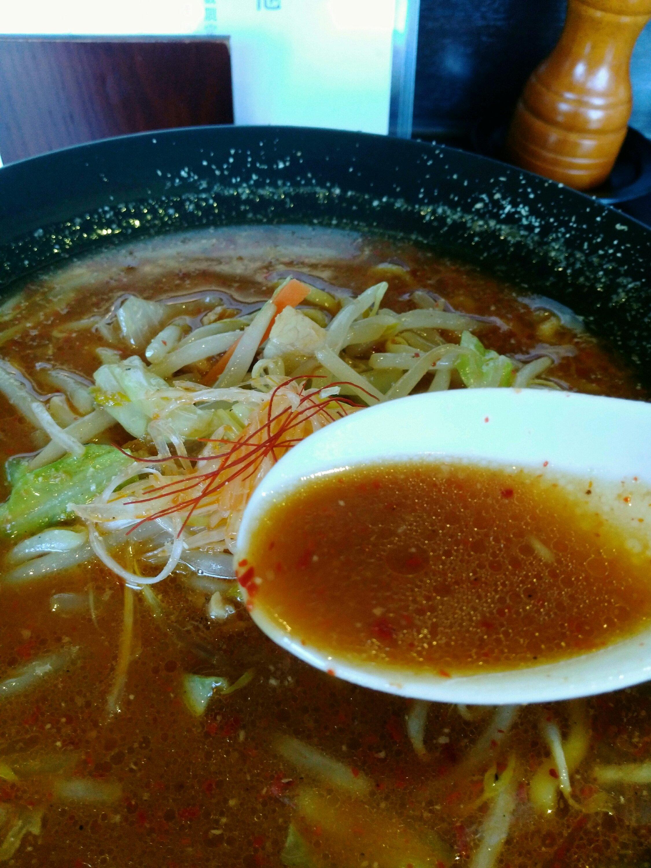 名取市 杉のや 辛味噌 スープ