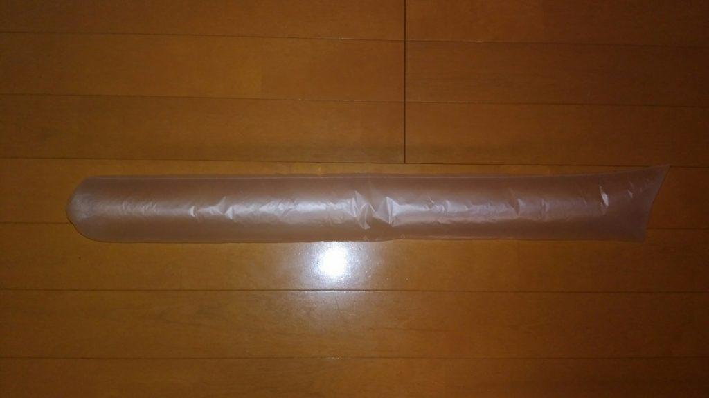 傘袋ロケットの作り方 傘袋を膨らます
