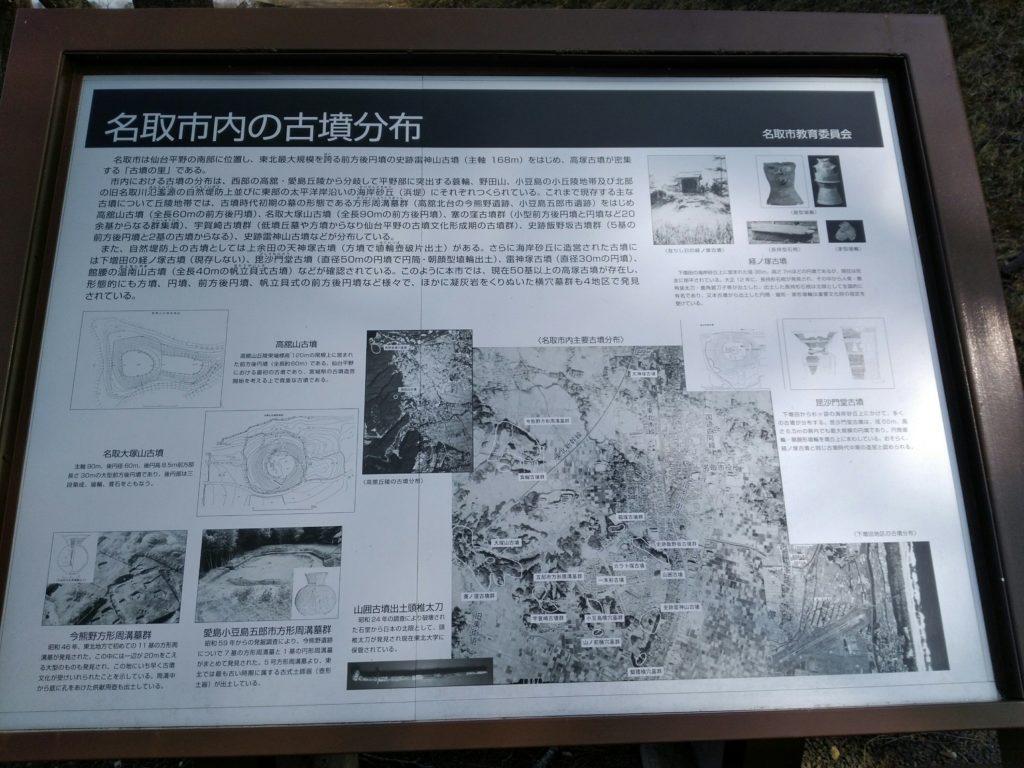 名取市内の古墳分布
