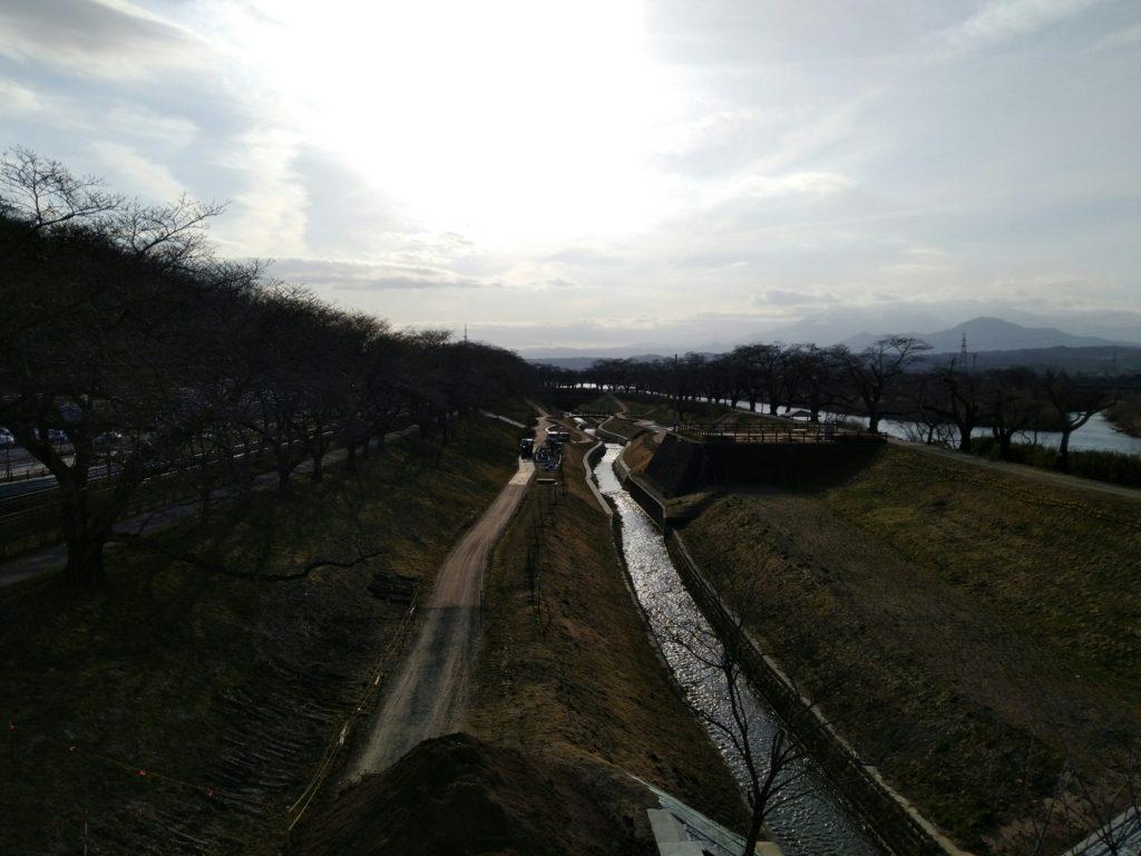 船岡城址公園 しばた千桜橋 桜並木