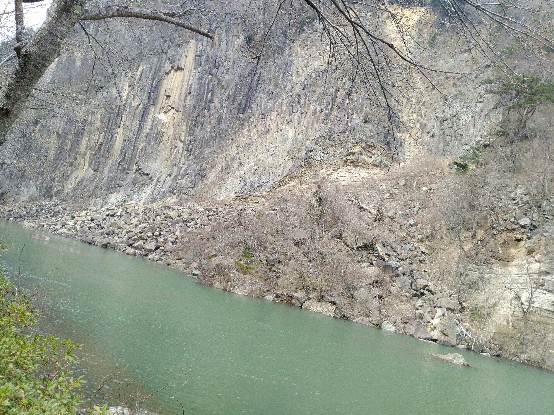 材木岩公園 白石川