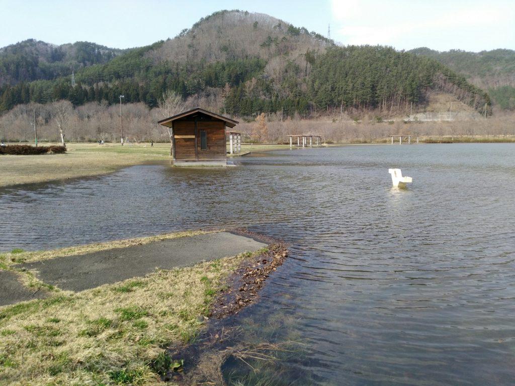 七ヶ宿自然休養公園 床下浸水