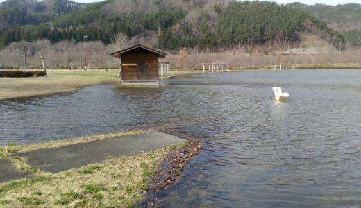 七ヶ宿公園レポ|衝撃!ダムの水が溢れている公園!