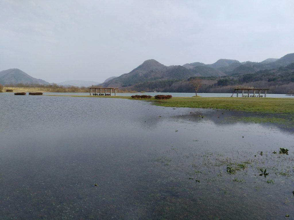 七ヶ宿公園 ダムとの境界