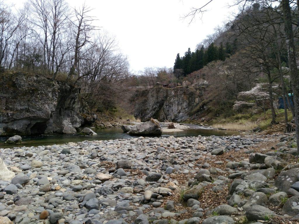 秋保ロッジ村の川原