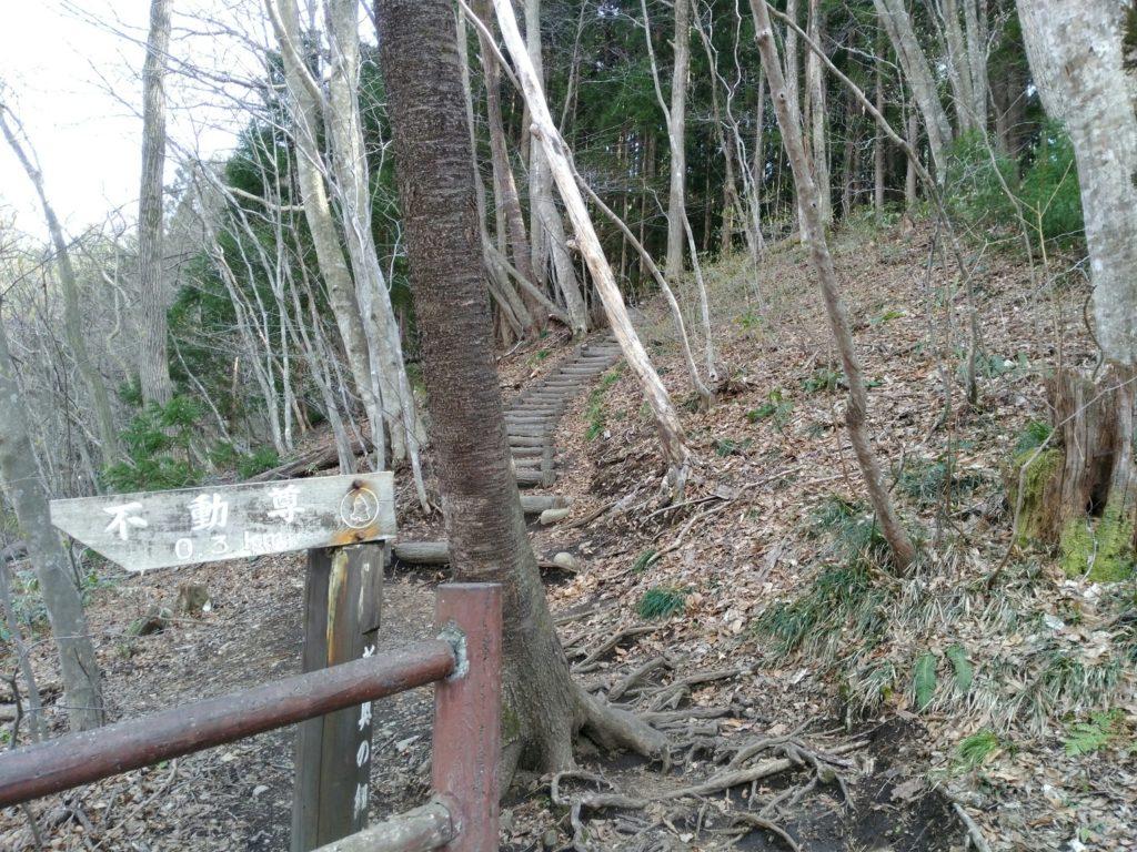 展望台から滝つぼへの山道