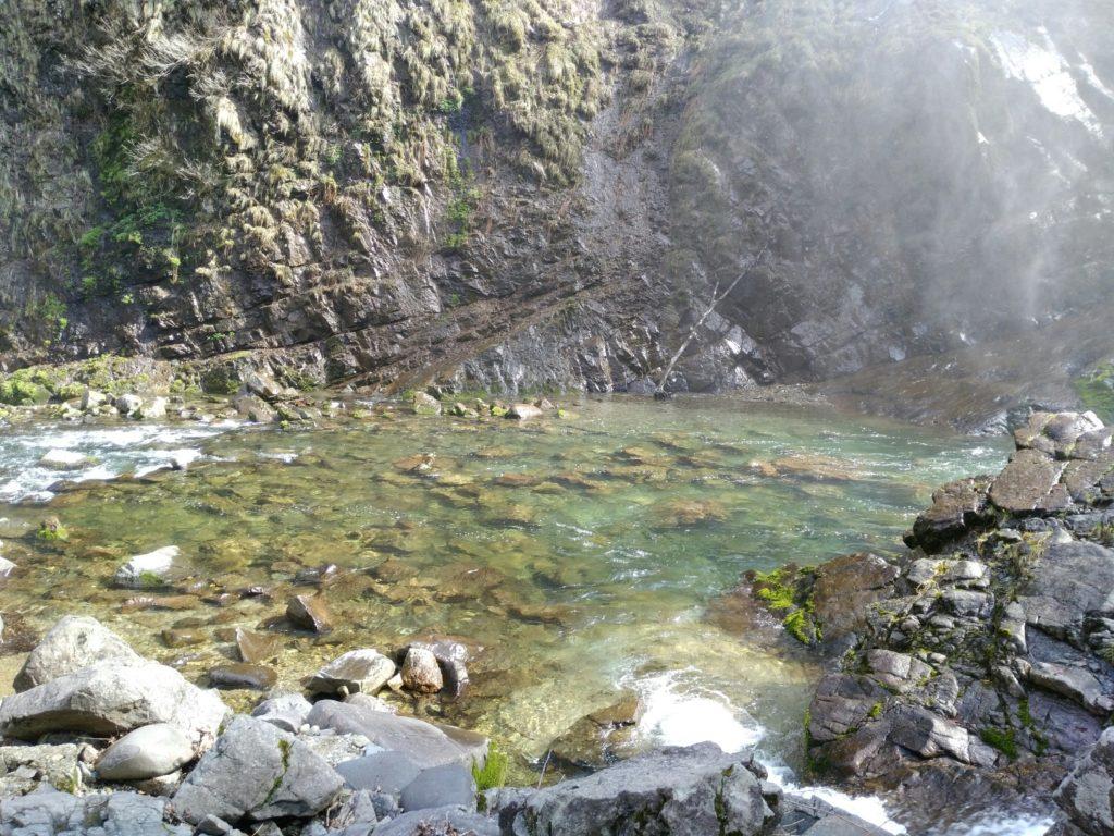 秋保大滝の滝壺の水
