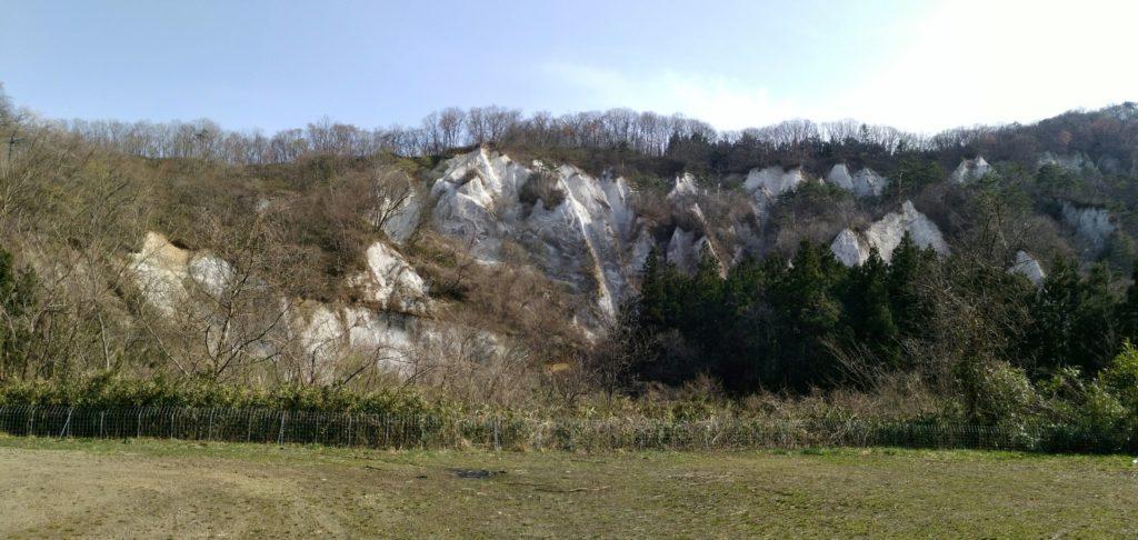仙台市 秋保 白岩 展望台から