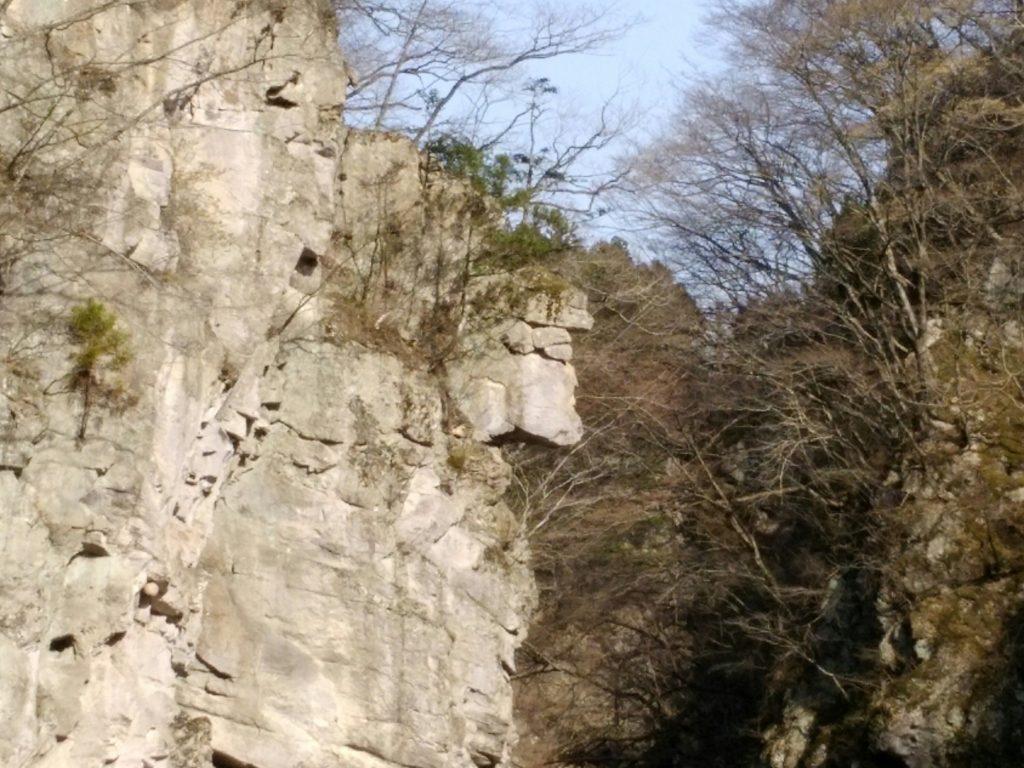 秋保 名取川 白岩付近 人面岩