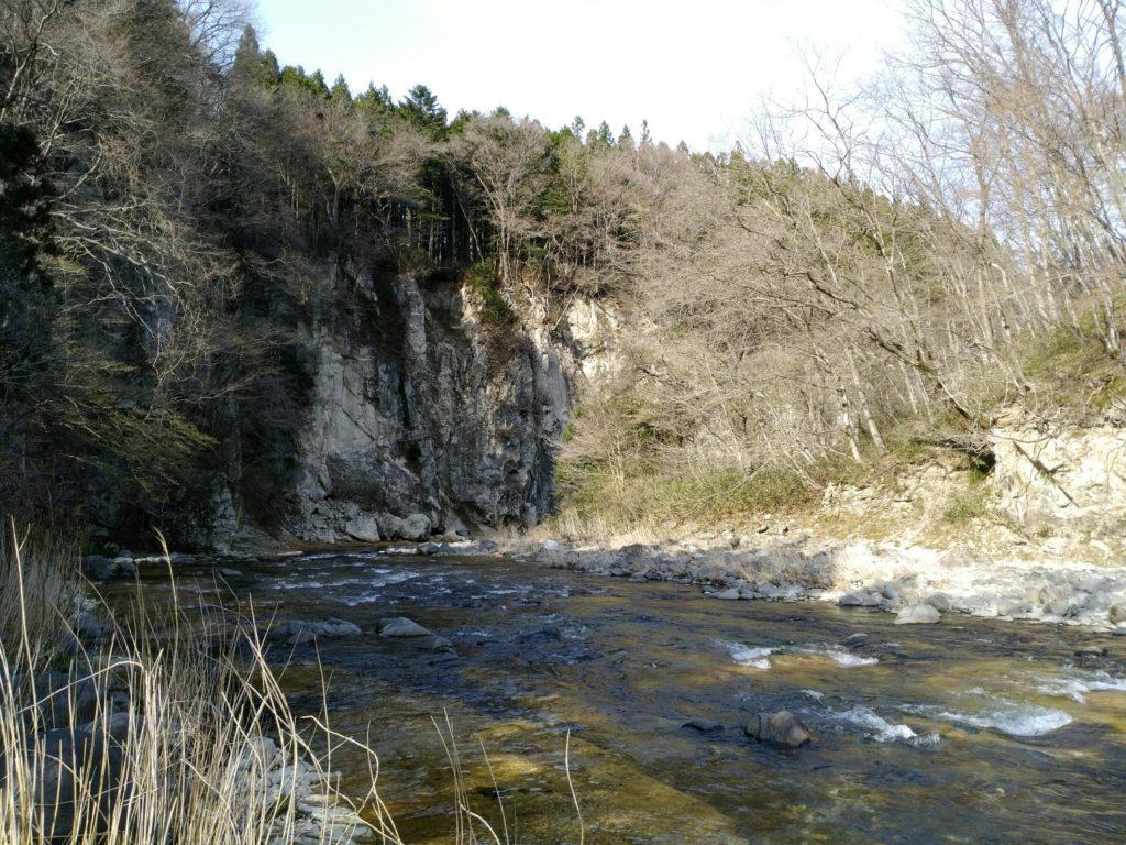 名取川 秋保白岩付近 下流
