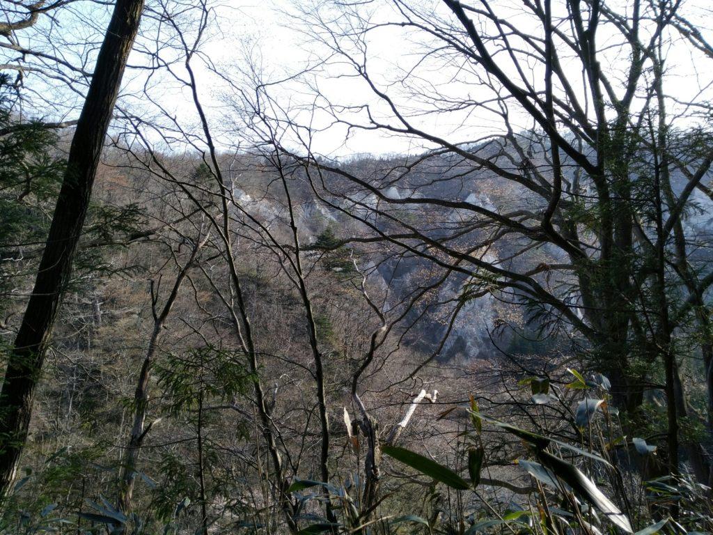 豊後館跡からちらっと見えた白岩