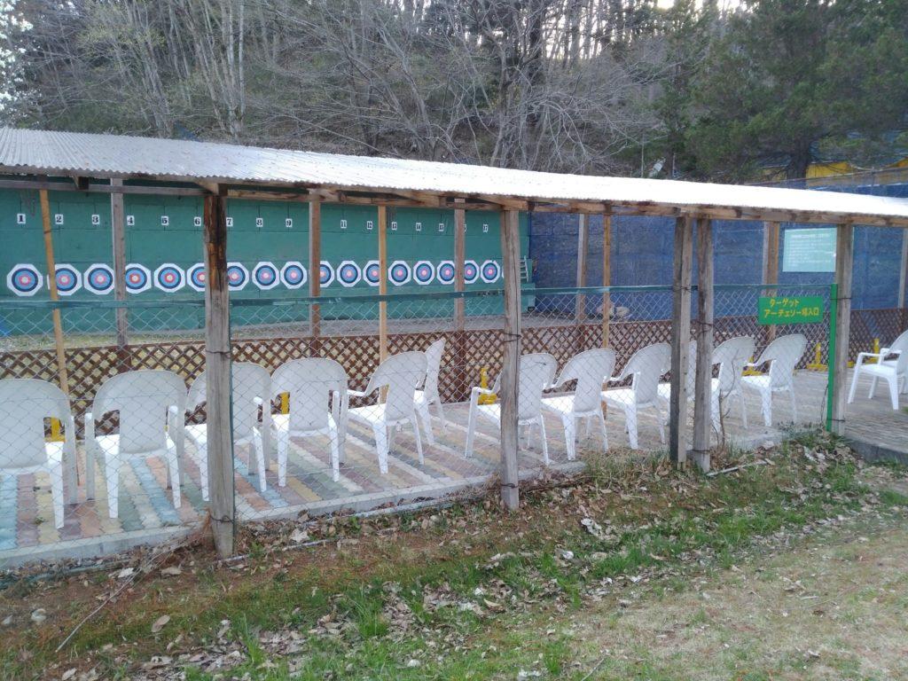 秋保森林スポーツ公園のアーチェリー練習場