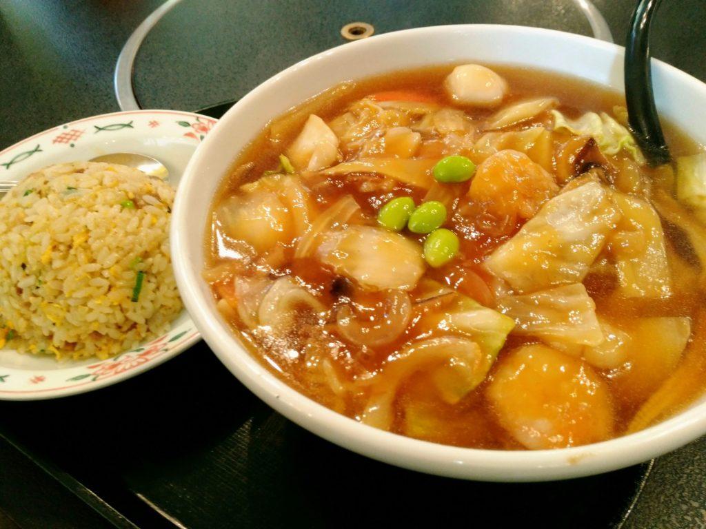 秋保 たべにおいで龍宝の広東麺