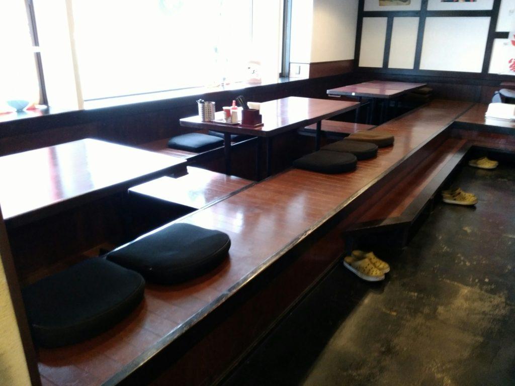一翔南仙台店の座敷席