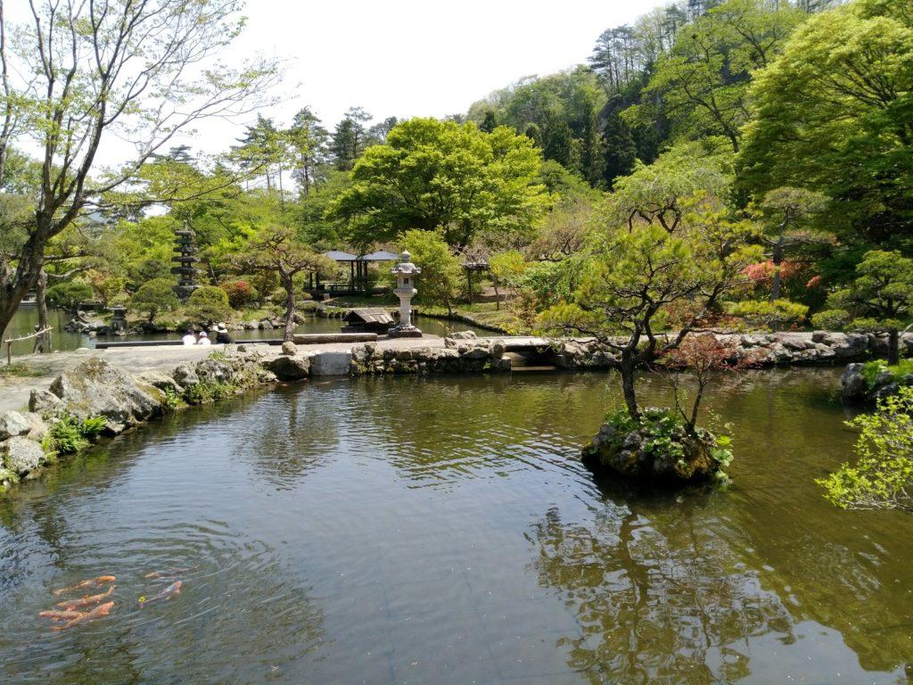 秋保 天守閣自然公園 池