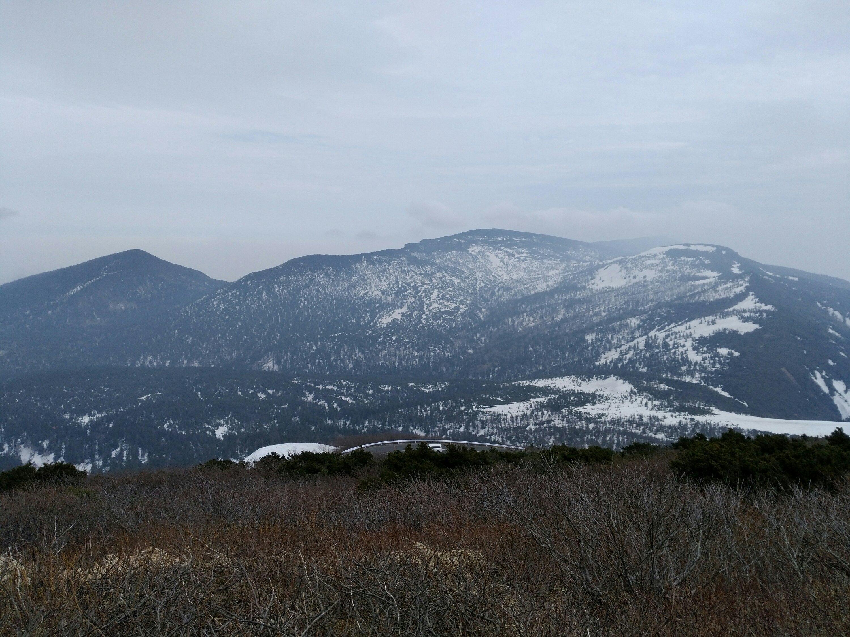 刈田岳 山頂からの景色 ハイライン側