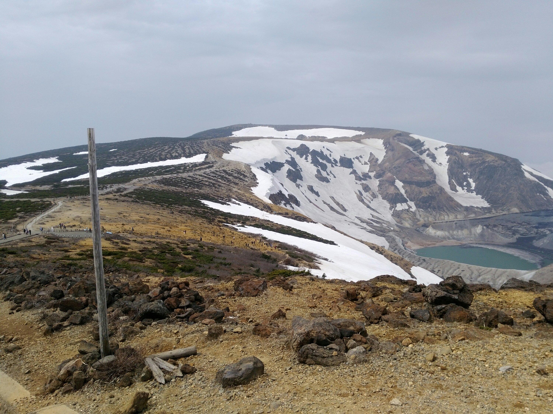 蔵王 熊野岳山頂への登山道