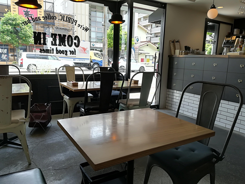 長町 PUBLIC.coffee&barの店内