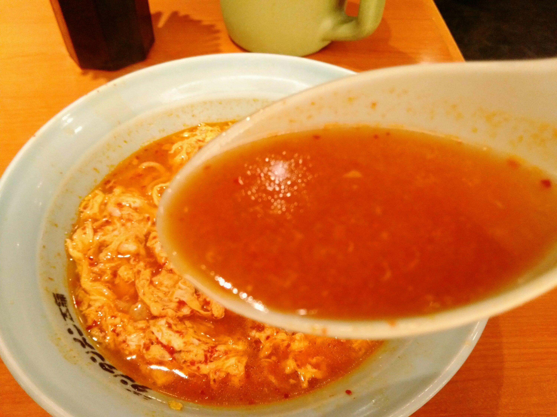 長町 ニュータンタンメン本舗 中辛 スープ