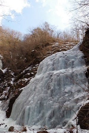 丸森町 冬の凍った地蔵滝