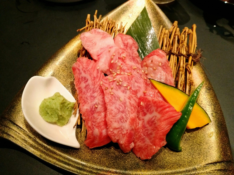 炭火いちば じゅう。太子堂店の仙台牛かるび