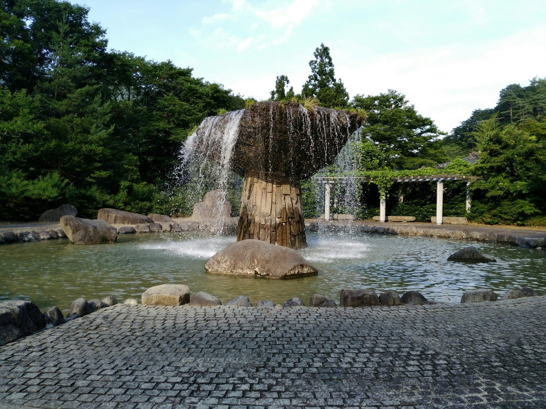 材木岩公園の噴水
