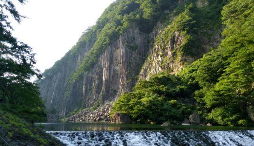 【白石市】材木岩公園で水遊び|天然記念物の材木岩もきれいでした