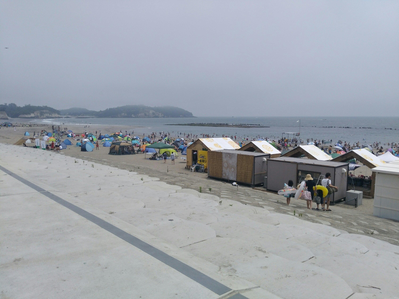 菖蒲田海水浴場の北側