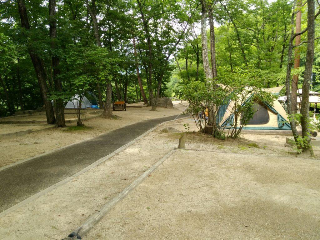 不動尊キャンプ場の第二キャンプサイト