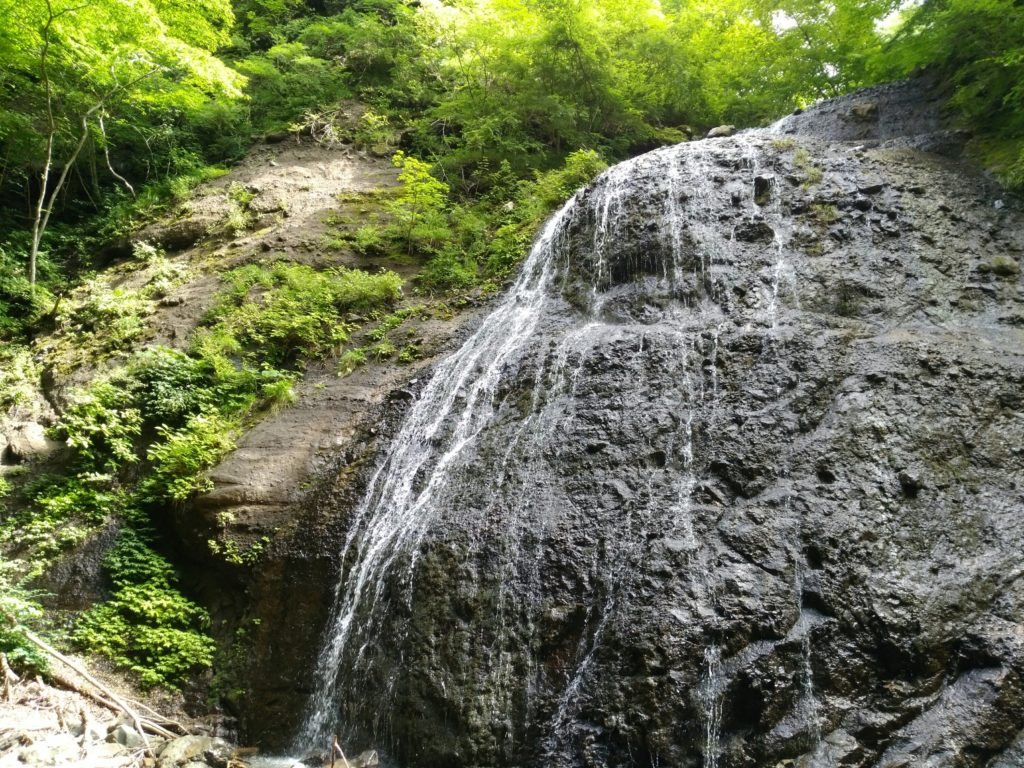 丸森町の不動滝(夏)