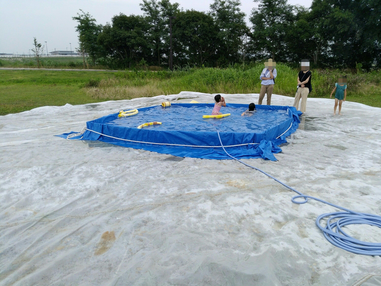 冒険広場の幼児用簡易プール
