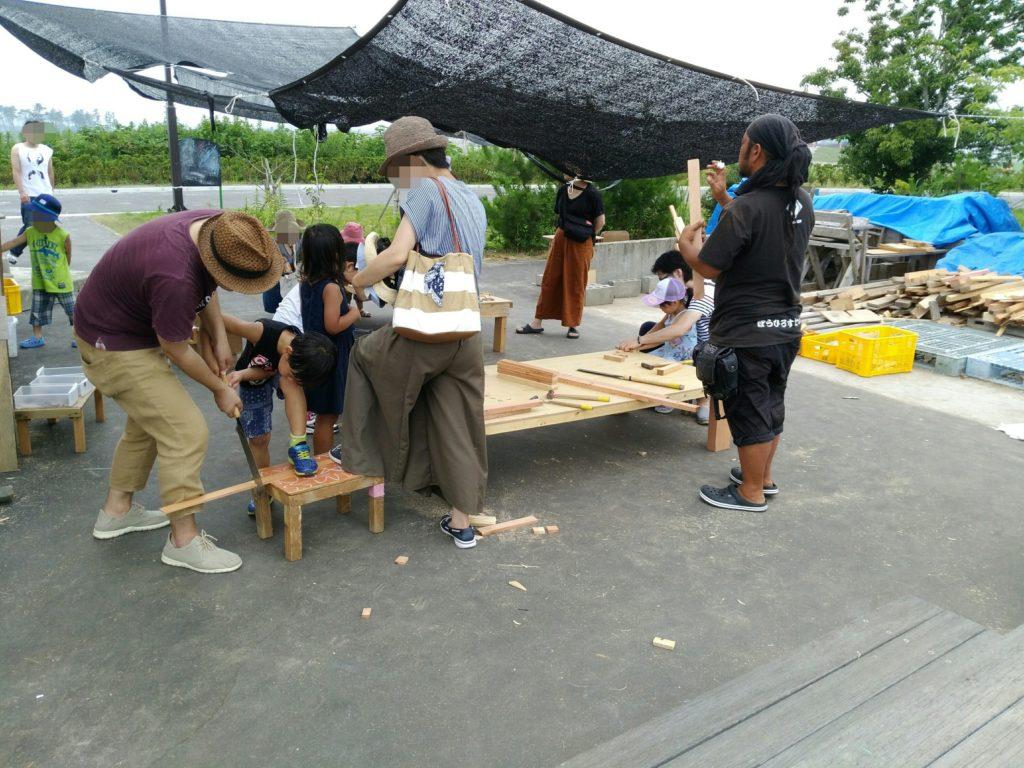 海岸公園冒険広場の工作・DIYコーナー