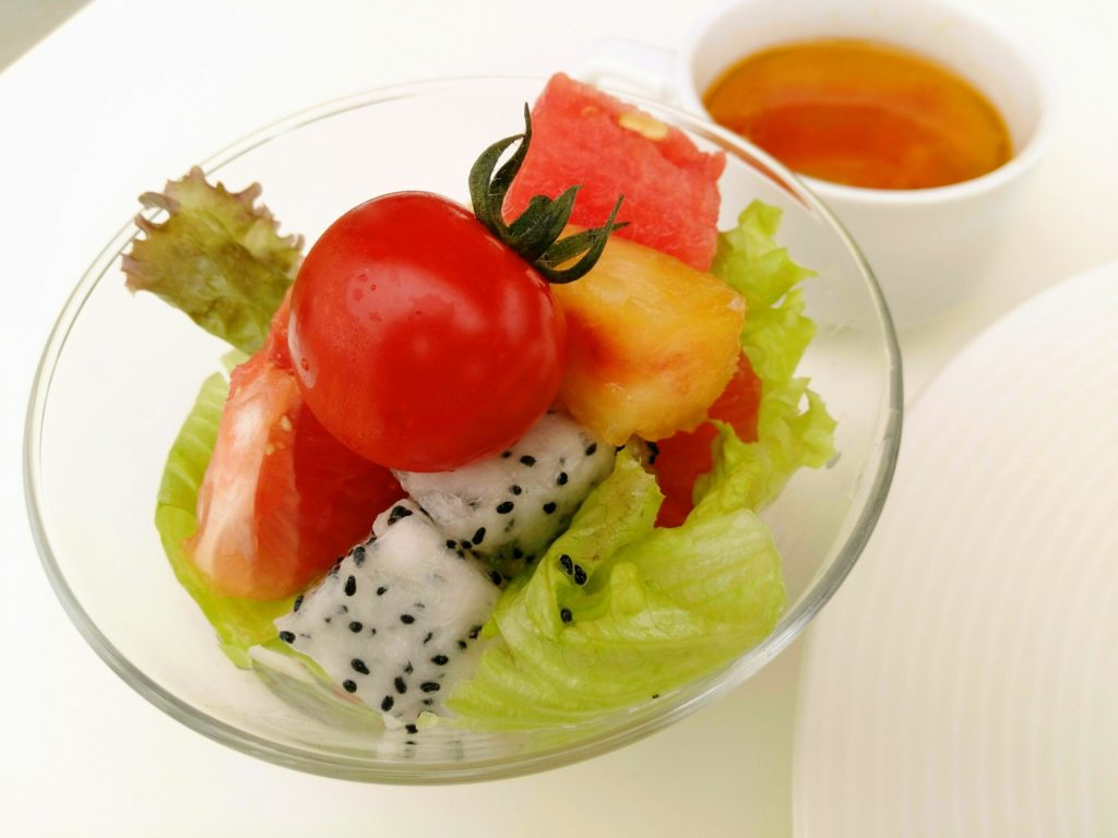 賢美フルーツサラダとフルーツスープ