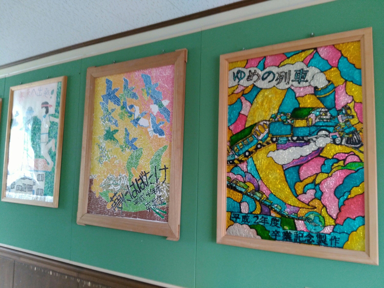 支倉小学校の展示物