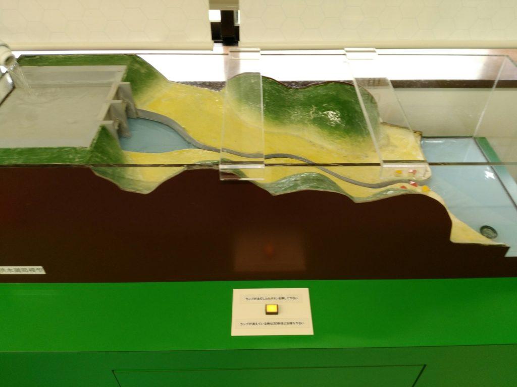 釜房ダムの模型