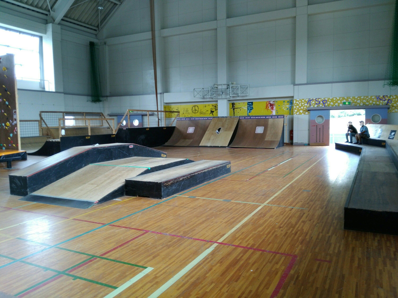 川崎スポーツパークのスケートパーク