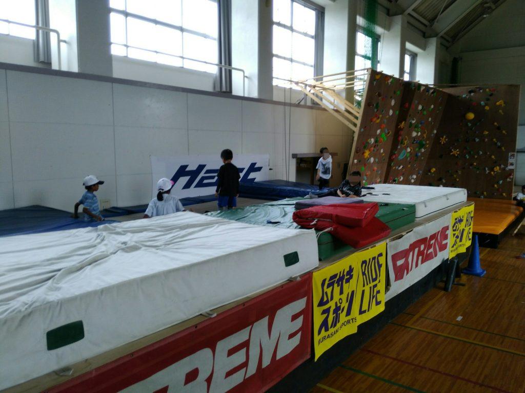 川崎スポーツパークのトランポリン