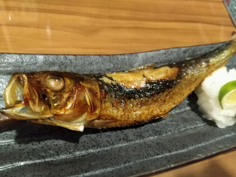 いろり焼き炭レちゃんの大トロイワシ