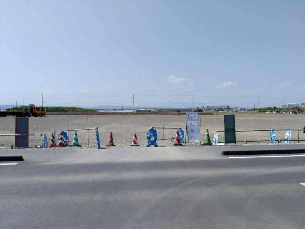 名取市閖上 ゆりあげ港朝市の駐車場