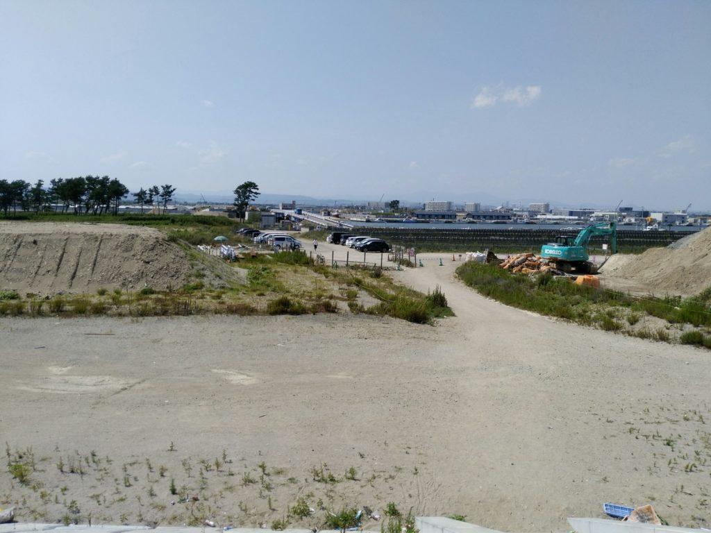 閖上浜の駐車場