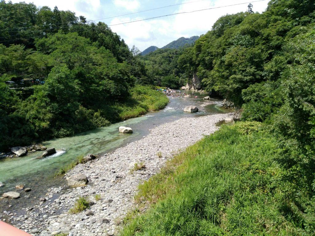名取川上流(羽山橋から)