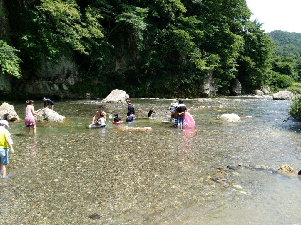 羽山橋の名取川 下流
