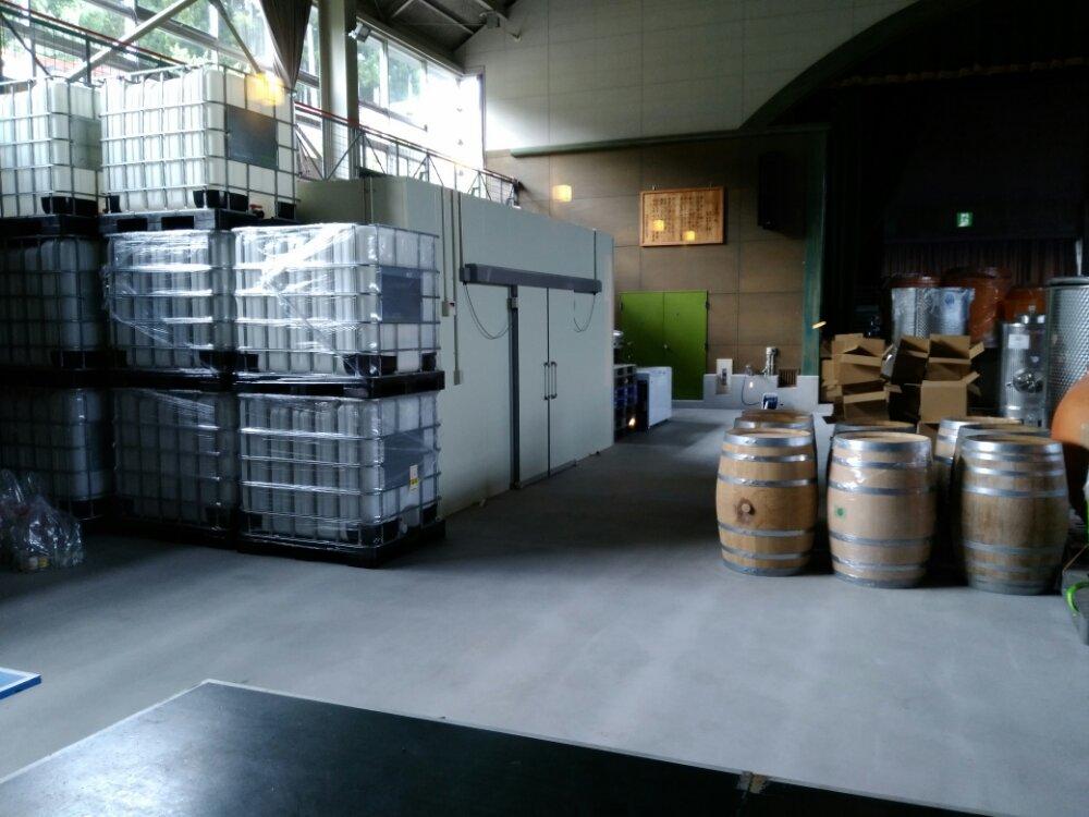 川崎町のワイナリー工場
