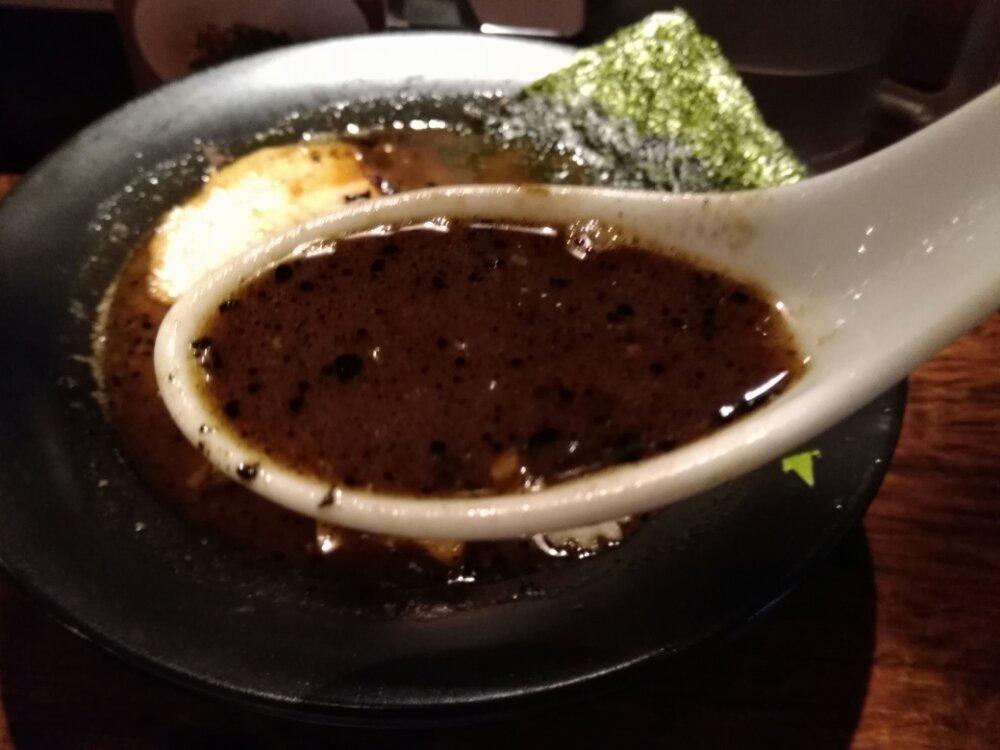 焦がし味噌ラーメンのスープ