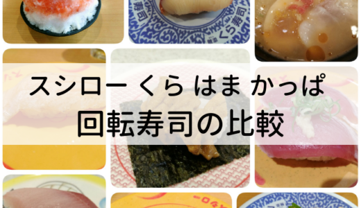 【2019版】回転寿司のランキング|大手5社のおすすめネタや料金を比較