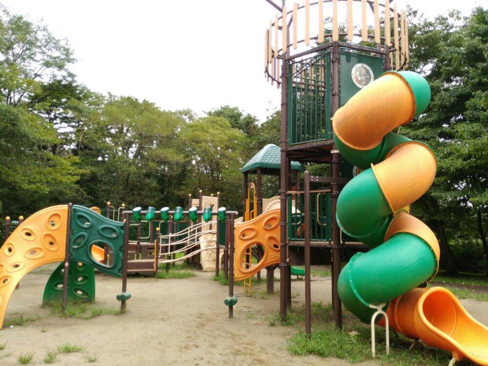 名取市 十三塚公園 アスレチック遊具