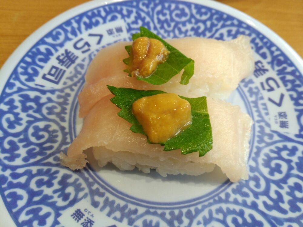 くら寿司 贅沢ビントロうに添え