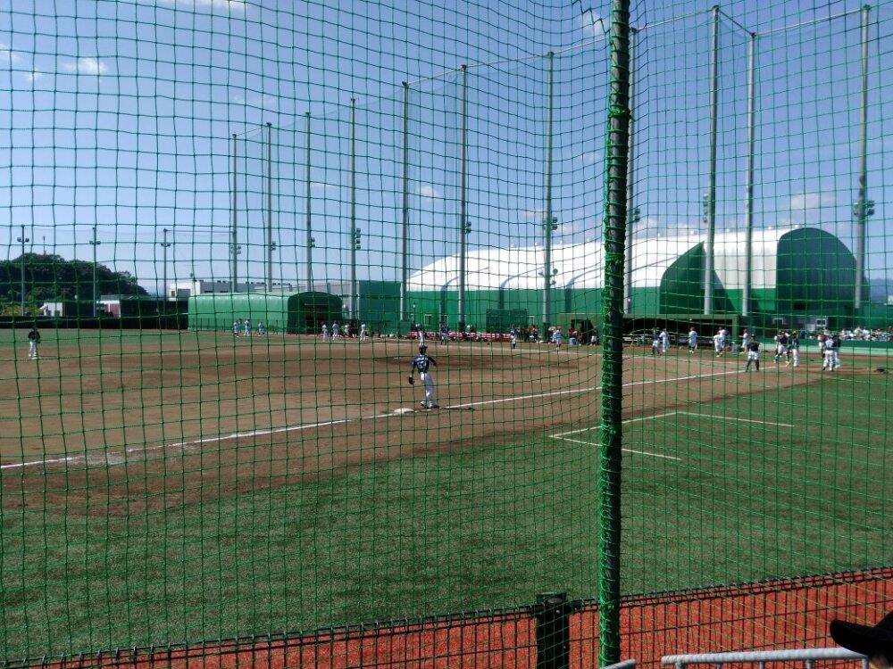 森林どりスタジアム泉で試合観戦