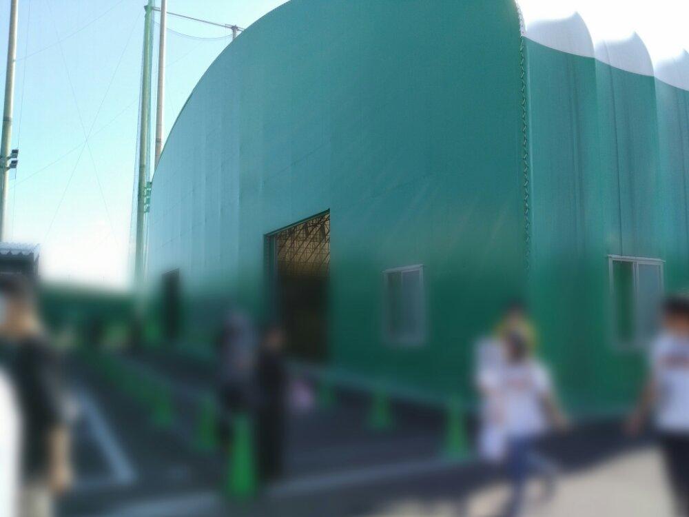森林どりスタジアム泉 練習場横のダグシート入口