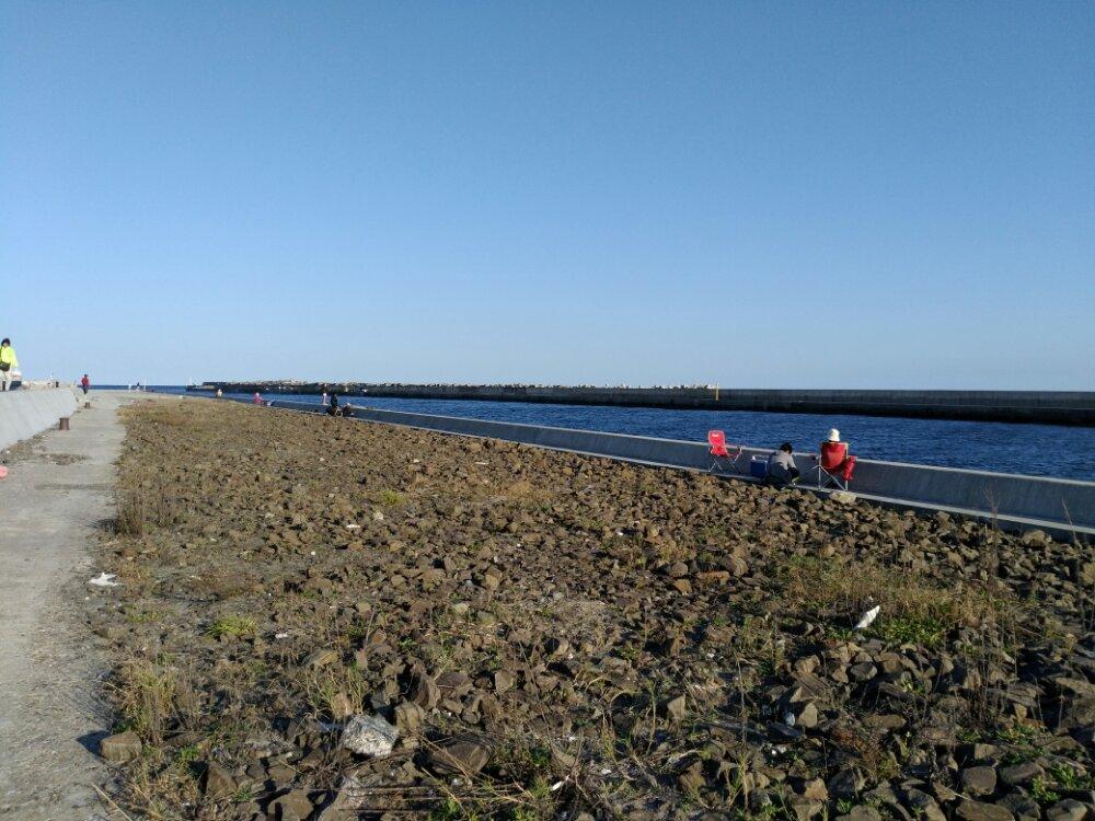 鳥の海の阿武隈川で釣り